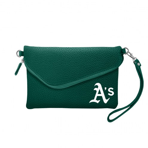 Oakland Athletics Pebble Fold Over Purse