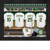 Oakland Athletics  Personalized Locker Room 11 x 14 Framed Photograph
