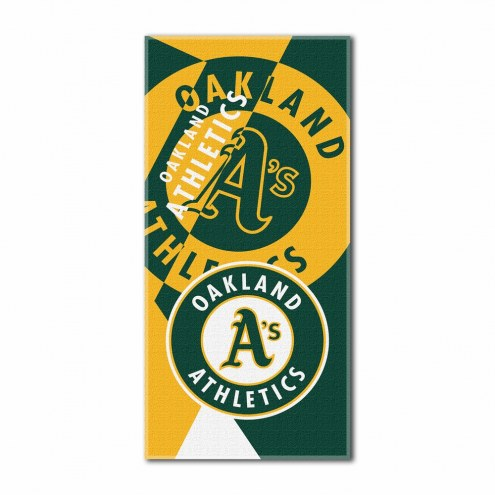 Oakland Athletics Puzzle Beach Towel