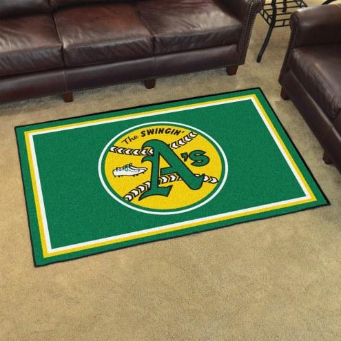 Oakland Athletics 4' x 6' Area Rug