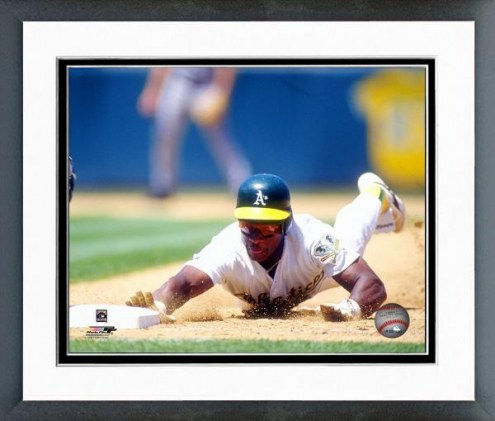 Oakland Athletics Rickey Henderson 1993 Action Framed Photo