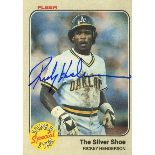 Oakland Athletics Rickey Henderson Signed 1983 Fleer Card