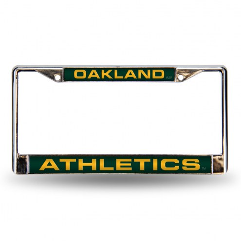 Oakland Athletics Laser Chrome License Plate Frame