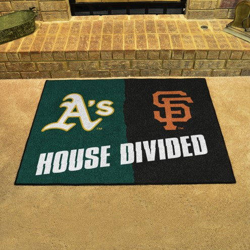 Oakland Athletics/San Francisco Giants House Divided Mat