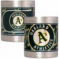 Oakland Athletics Stainless Steel Hi-Def Coozie Set