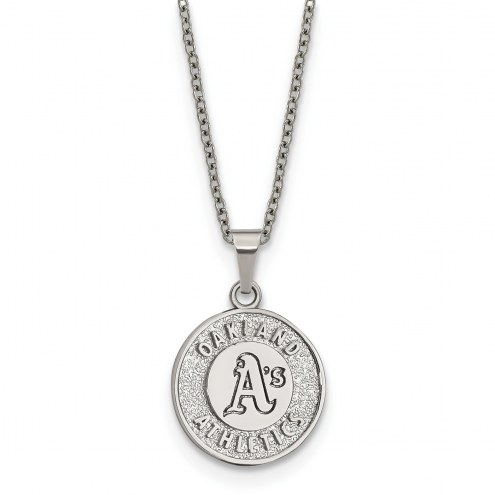 Oakland Athletics Stainless Steel Pendant Necklace