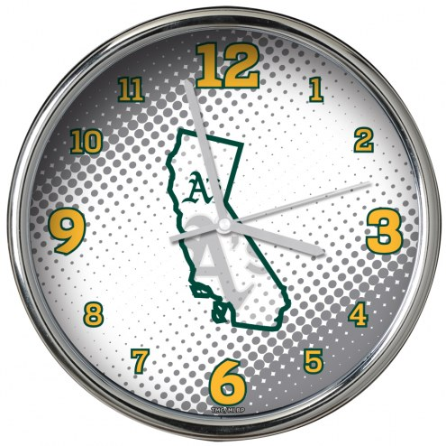 Oakland Athletics State of Mind Chrome Clock
