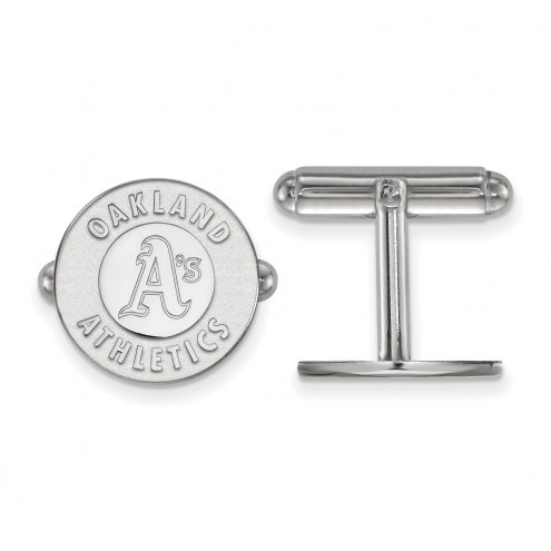 Oakland Athletics Sterling Silver Cuff Links