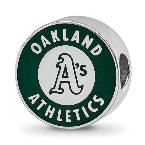 Oakland Athletics Sterling Silver Enameled Bead