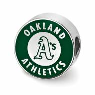 Oakland Athletics Sterling Silver Enameled Bead