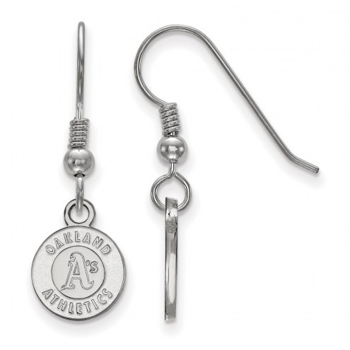 Oakland Athletics Sterling Silver Extra Small Dangle Earrings
