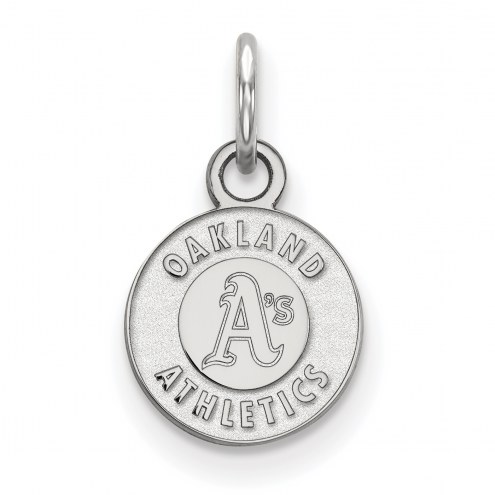 Oakland Athletics Sterling Silver Extra Small Pendant