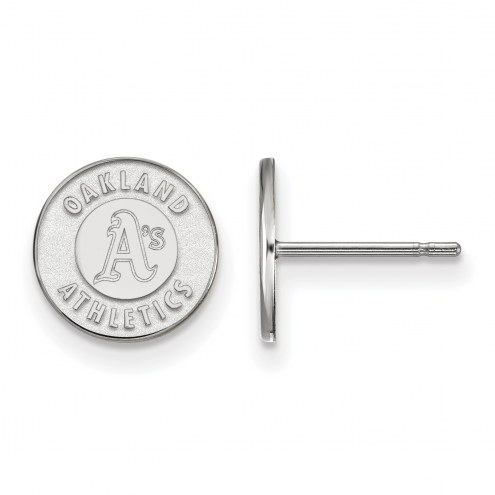 Oakland Athletics Sterling Silver Extra Small Post Earrings