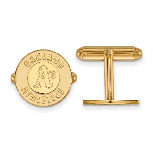 Oakland Athletics Sterling Silver Gold Plated Cuff Links