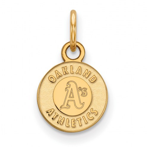 Oakland Athletics Sterling Silver Gold Plated Extra Small Pendant