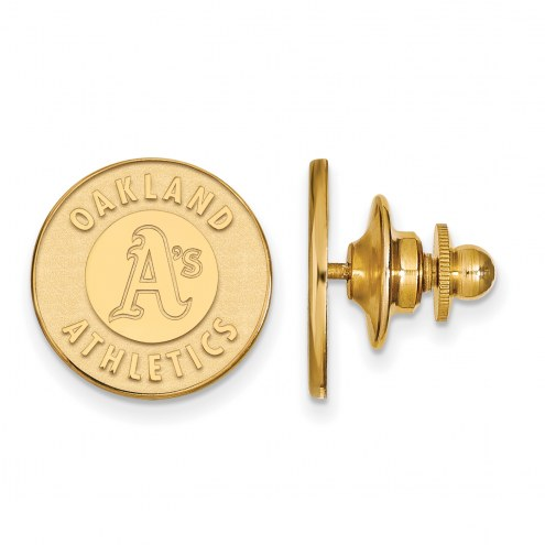 Oakland Athletics Sterling Silver Gold Plated Lapel Pin