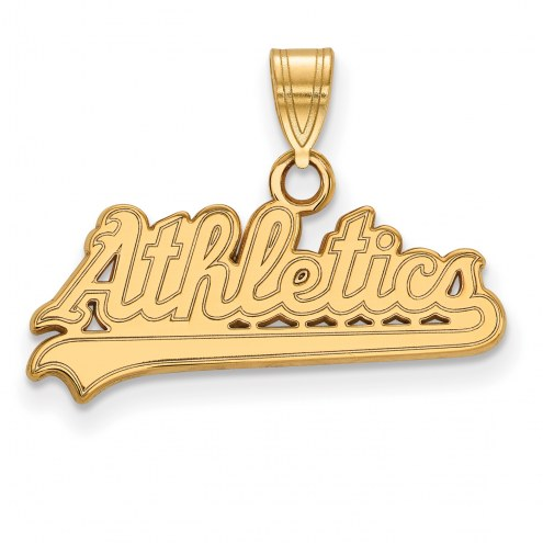 Oakland Athletics Sterling Silver Gold Plated Small Pendant