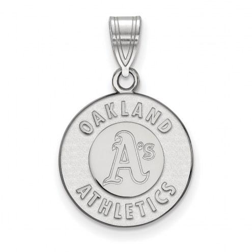Oakland Athletics Sterling Silver Medium Pendant