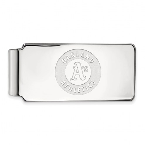 Oakland Athletics Sterling Silver Money Clip