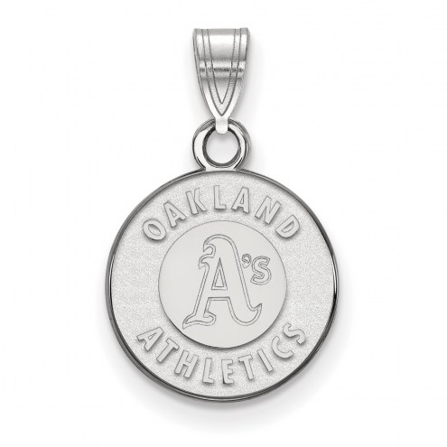 Oakland Athletics Sterling Silver Small Pendant