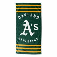 Oakland Athletics Stripes Beach Towel