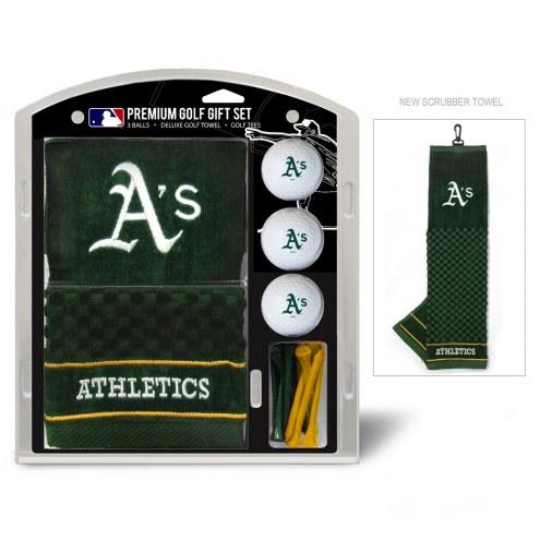 Oakland Athletics Golf Gift Set