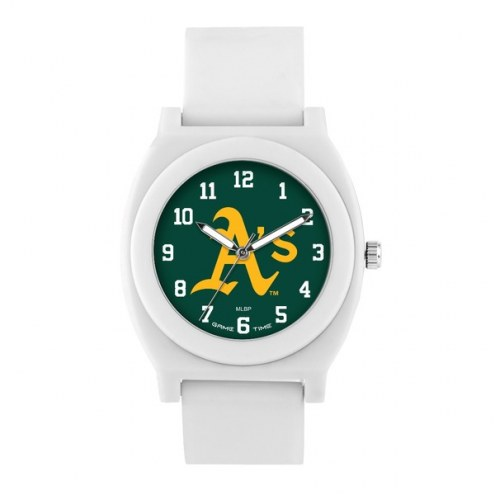 Oakland Athletics Unisex Fan White Watch