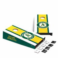 Oakland Athletics Mini Cornhole Set