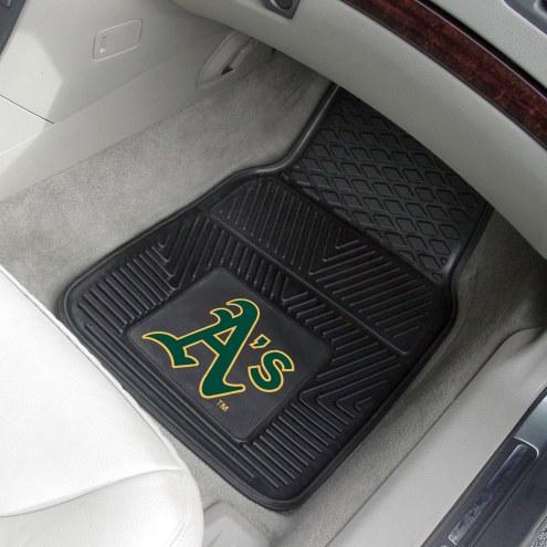 Oakland Athletics Vinyl 2-Piece Car Floor Mats