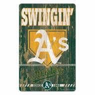 Oakland Athletics Slogan Wood Sign