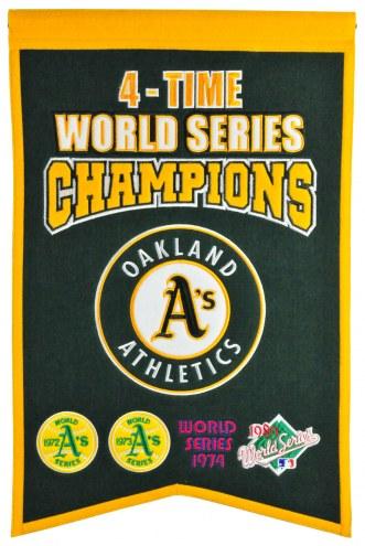 Oakland Athletics Champs Banner