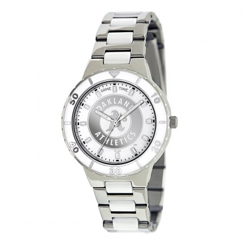 Oakland Athletics Womens Pearl Watch