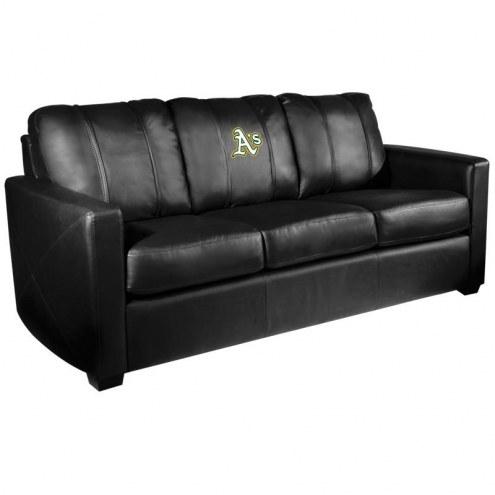 Oakland Athletics XZipit Silver Sofa with Secondary Logo