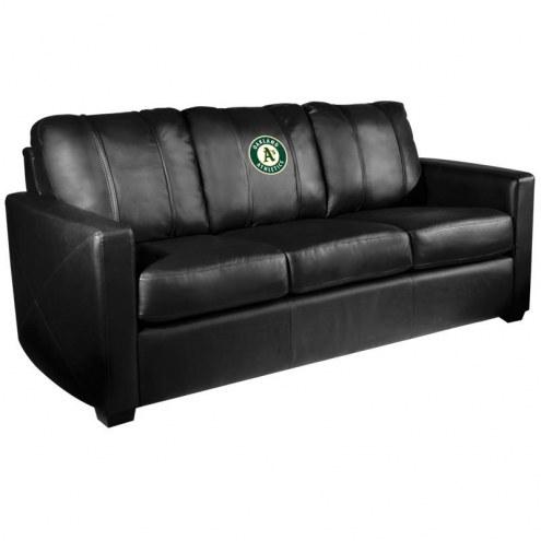 Oakland Athletics XZipit Silver Sofa