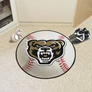 Oakland Golden Grizzlies Baseball Rug