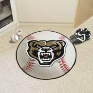 Oakland Golden Grizzlies Baseball Rug