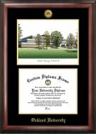 Oakland Golden Grizzlies Gold Embossed Diploma Frame with Lithograph