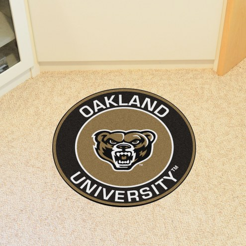 Oakland Golden Grizzlies Rounded Mat