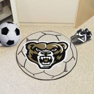 Oakland Golden Grizzlies Soccer Ball Mat