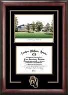 Oakland Golden Grizzlies Spirit Diploma Frame with Campus Image
