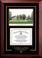 Oakland Golden Grizzlies Spirit Graduate Diploma Frame