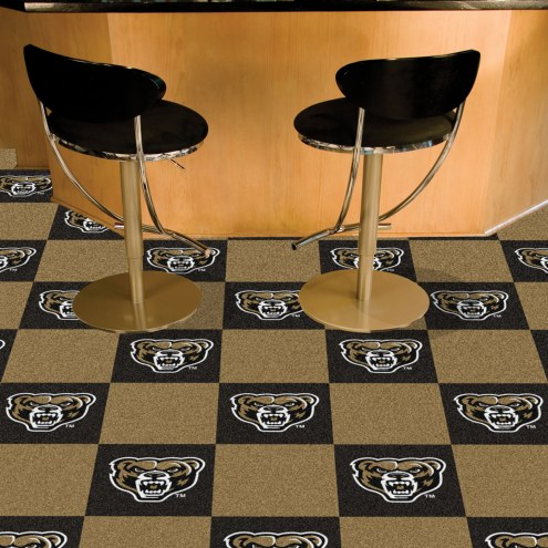 Oakland Golden Grizzlies Team Carpet Tiles