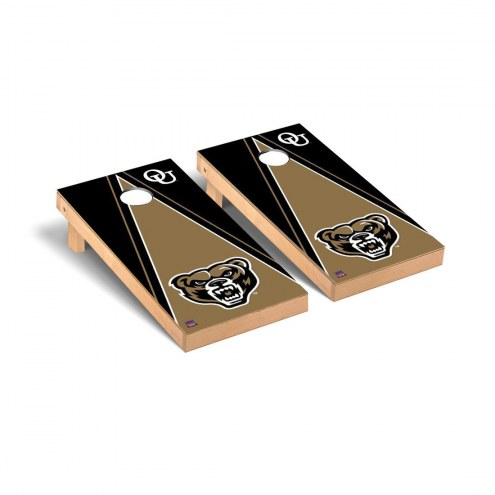 Oakland Golden Grizzlies Triangle Cornhole Game Set