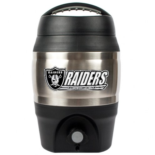 Oakland Raiders 1 Gallon Beverage Dispenser