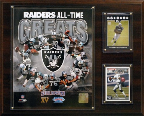 "Oakland Raiders 12"" x 15"" All-Time Great Plaque"