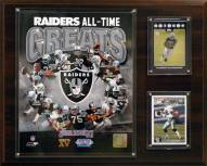 "Las Vegas Raiders 12"" x 15"" All-Time Great Plaque"