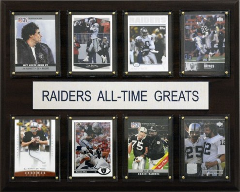 """Oakland Raiders 12"""" x 15"""" All-Time Greats Plaque"""
