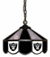 """Las Vegas Raiders 14"""" Glass Pub Lamp"""