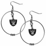 """Las Vegas Raiders 2"""" Hoop Earrings"""
