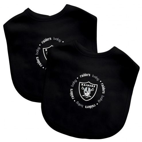 Las Vegas Raiders 2-Pack Baby Bibs